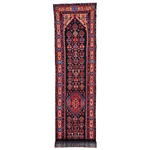 Persian Nahavand Wide Runner Pure Wool Handmade Oriental