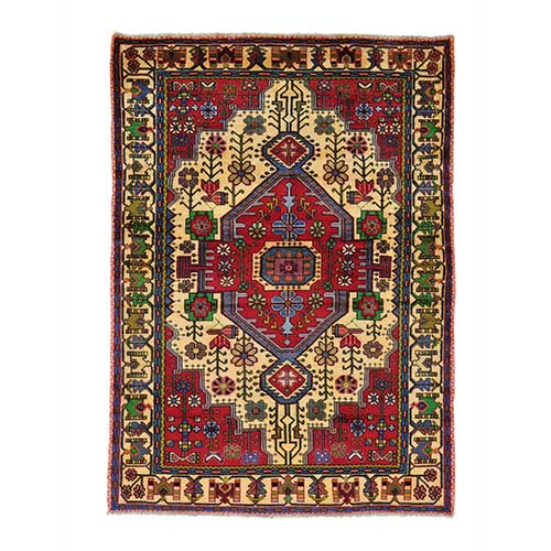 Hand Knotted Persian Nahavand Pure Wool Oriental