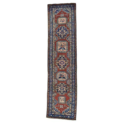 Antique North West Persian Even Wear Wide Runner Oriental