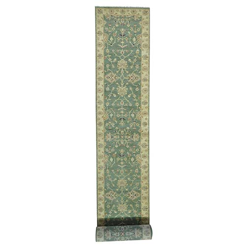 Hand Knotted Pure Wool Hard Twist Agra XL Runner Oriental