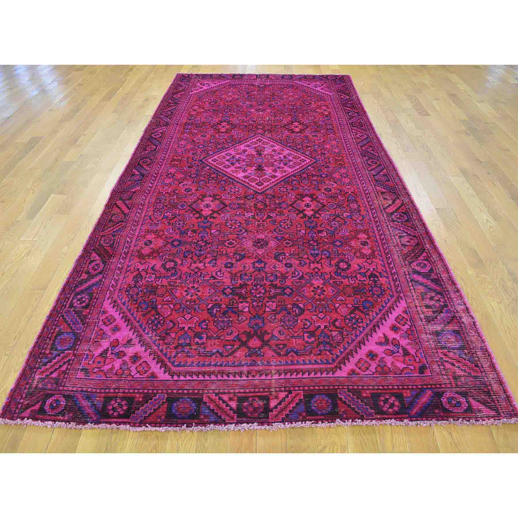 Overdyed-Vintage-Hand-Knotted-Rug-141360