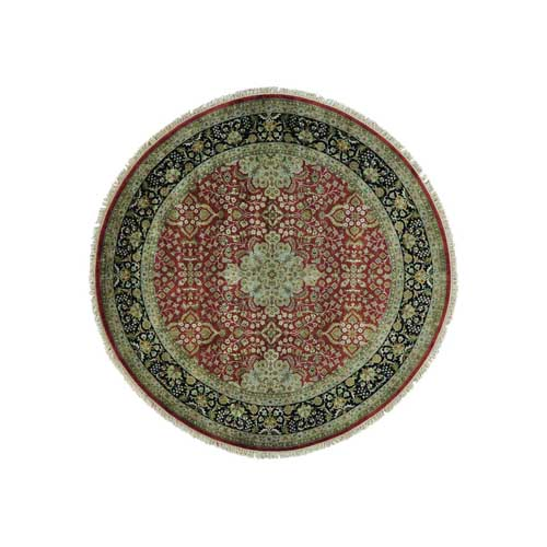 New Zealand Wool Round Kashan Revival 300 KPSI Oriental