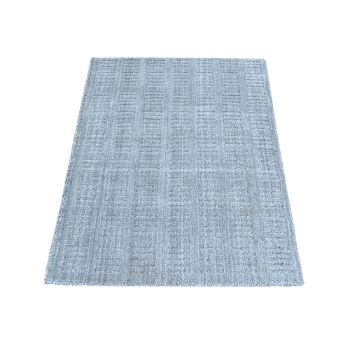 Tone on Tone Hand Loomed Grey Wool and Silk