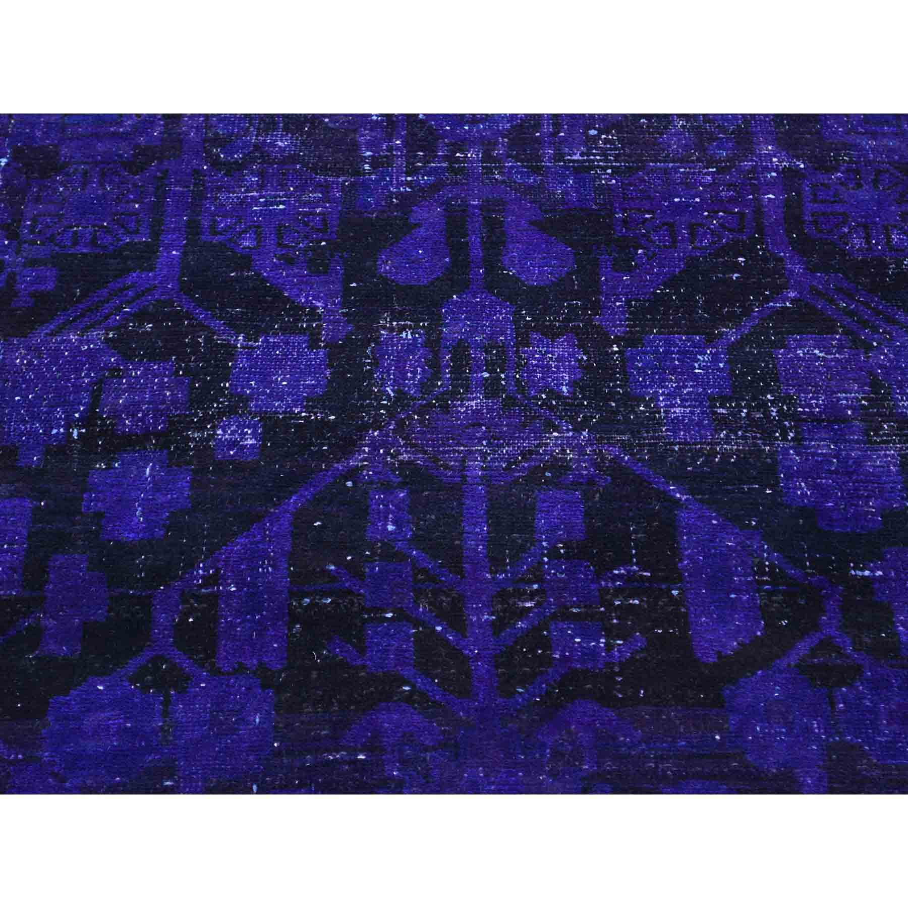 Overdyed-Vintage-Hand-Knotted-Rug-153115
