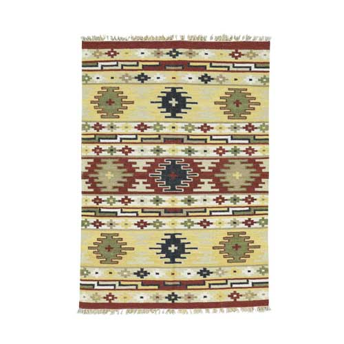 Hand-Woven Pure Wool Anatolian Durie Kilim Flat Weave
