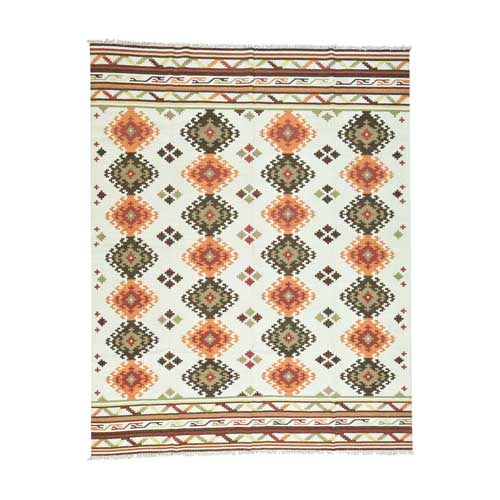 Hand-Woven Anatolian Durie Kilim Flat Weave Oriental