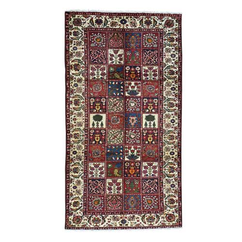 Hand-Knotted Persian Bakhtiari Garden Design Wide Runner