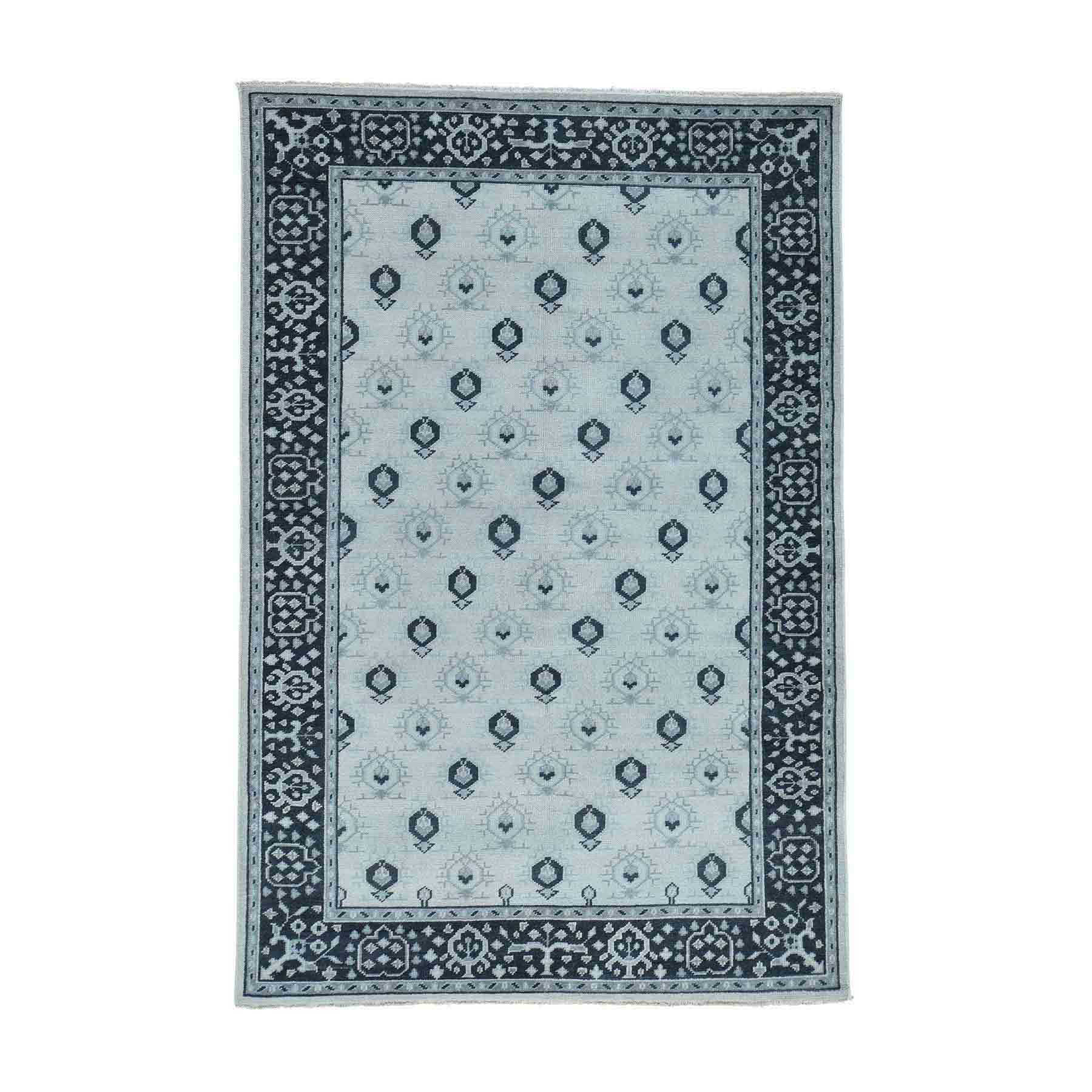 Oushak-And-Peshawar-Hand-Knotted-Rug-170350