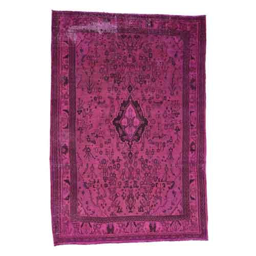 Hand-Knotted Overdyed Bibikabad Pure Wool Oriental
