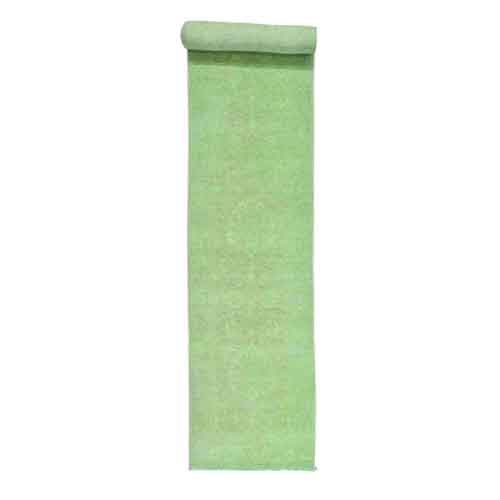 Hand-Knotted Green Peshawar Overdyed Pure Wool XL Runner