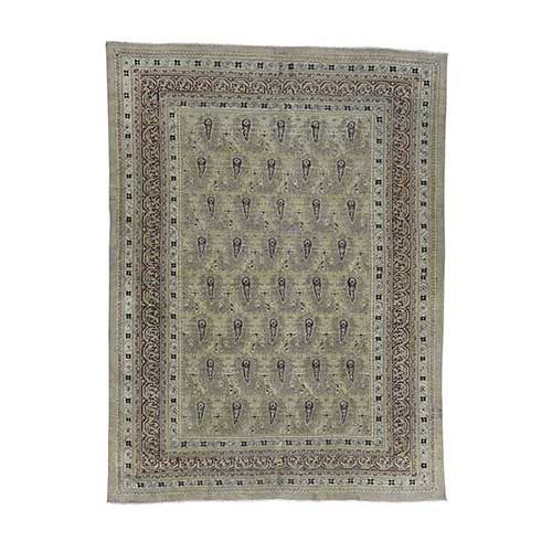 Antique Mughal Agra Paisley Design Excellent Condition