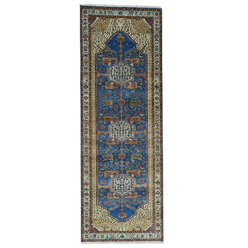 Antiqued Bakshaish Natural Dyes High KPSI Oriental Wide Runner