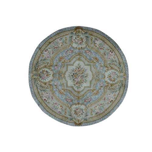 Round Marie Antoinette Design Thick And Plush Savonnerie