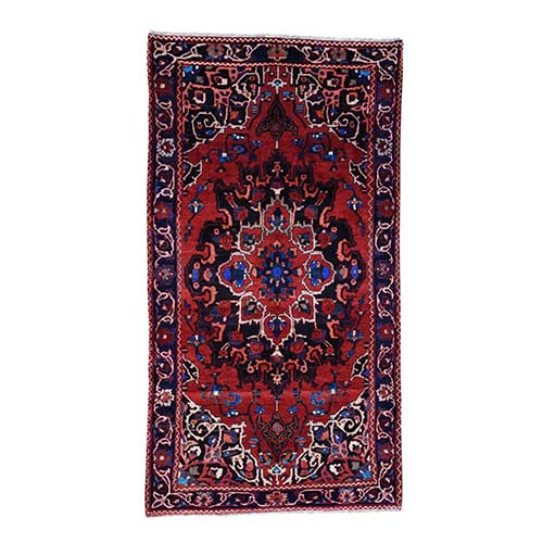 Hand-Made Semi Antique Persian Bakhtiari Wide Runner