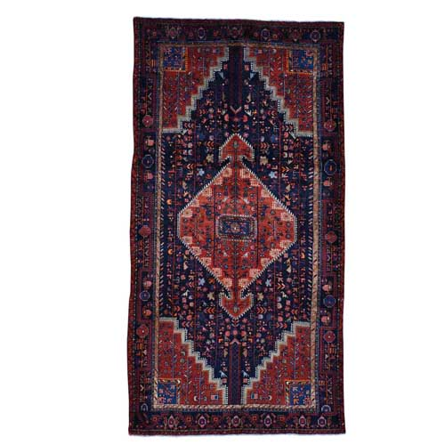 Hand Knotted Persian Malayer Oriental Wide Runner