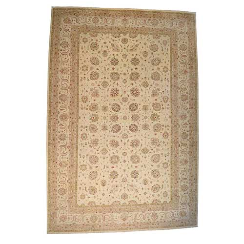 Palace Size Antiqued Tabriz Design Peshawar Hand Knotted