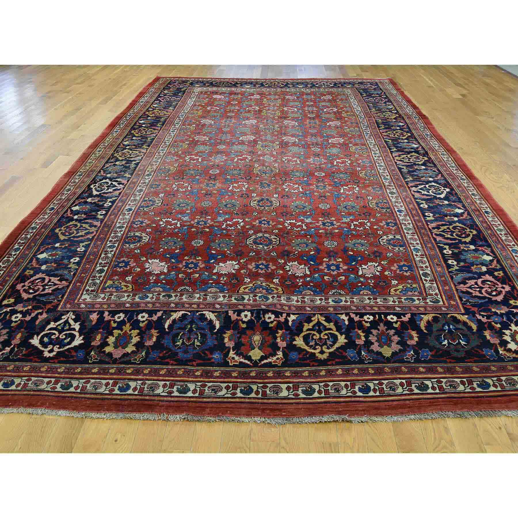 Antique-Hand-Knotted-Rug-195195