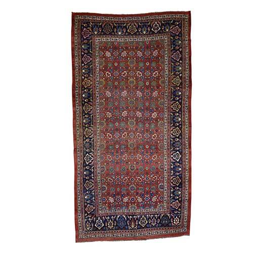 Hand-Knotted Antique Persian Bidjar Exc Cond Gallery Size