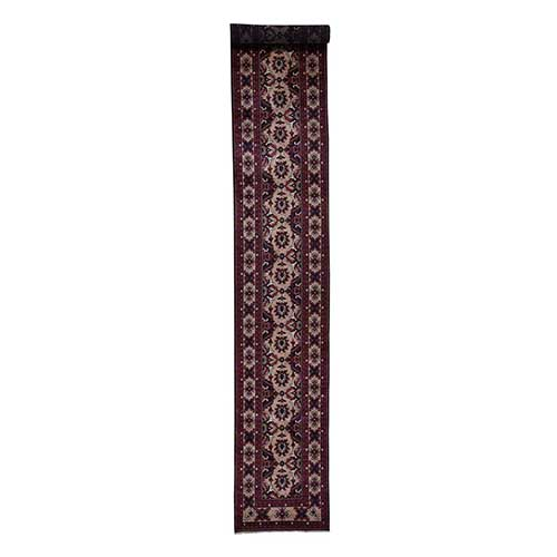 100 Percent Wool Hand Knotted Afghan XL Runner Oriental