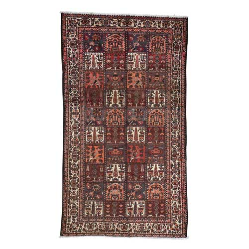 Garden Design Bakhtiari Semi Antique Persian Hand-Knotted Oriental