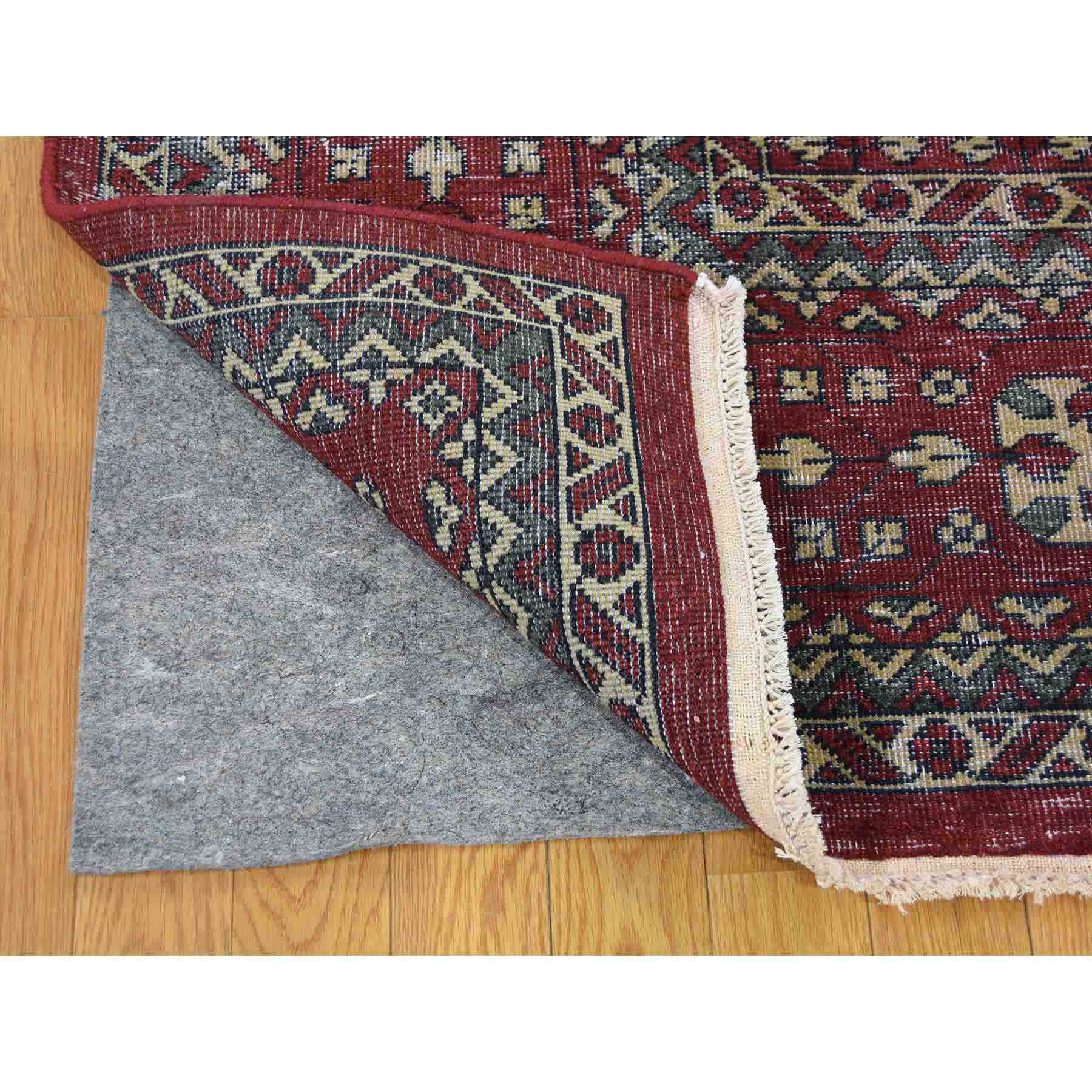 61a1da7428 Vintage Look Mamluk Distressed Zero Pile Shaved Low Worn Wool Rug ...