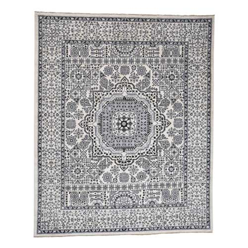 Vintage Look Mamluk Pure Wool Natural Colors Hand-Knotted Oriental