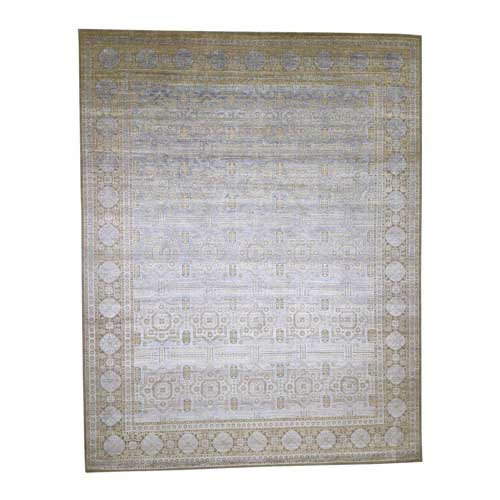 Mamluk Silk with Textured Wool Hand-Knotted Oversized Oriental