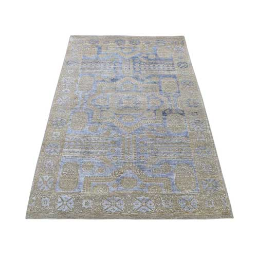 Silk with Textured Wool Mamluk Design Oriental