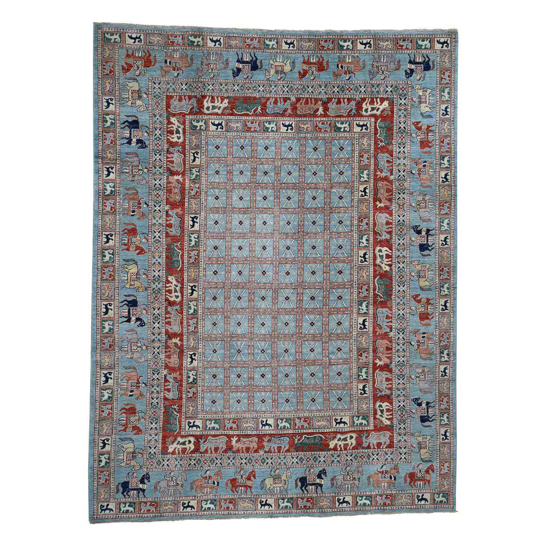 Oushak-And-Peshawar-Hand-Knotted-Rug-211095