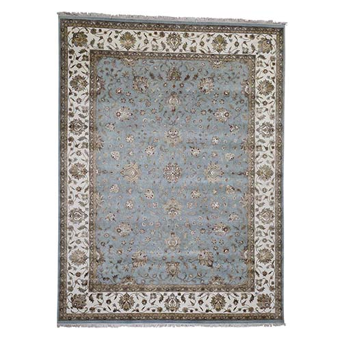Wool & Silk Thick and Plush Rajasthan Hand-Knotted Oriental