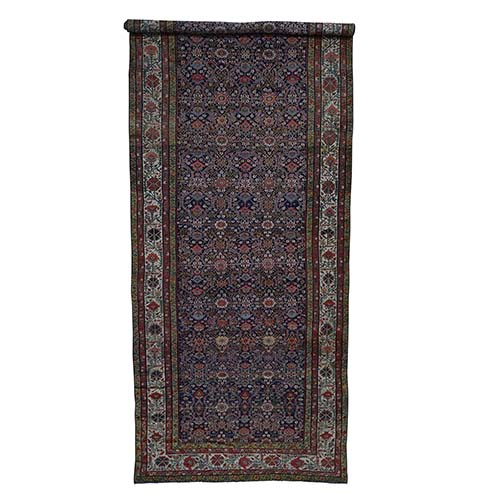 Hand-Knotted Antique Persian Fereghan Sarouk gallery Size Oriental