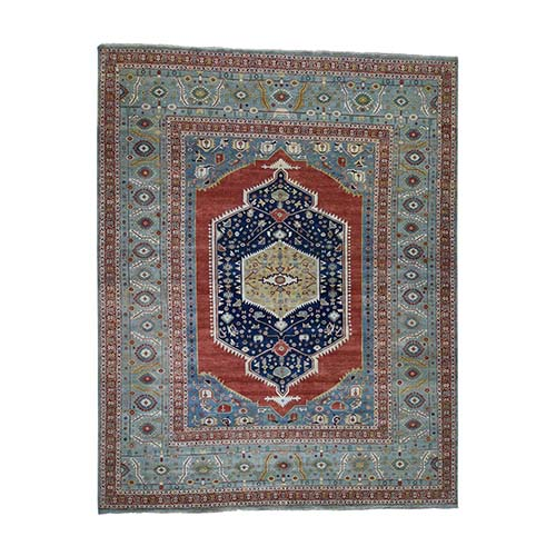 Hand-Knotted Antiqued Bakshaish Re-creation Oversize Pure Wool Oriental