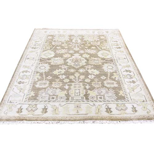 Pure Wool Oushak Runner Hand Knotted Oriental