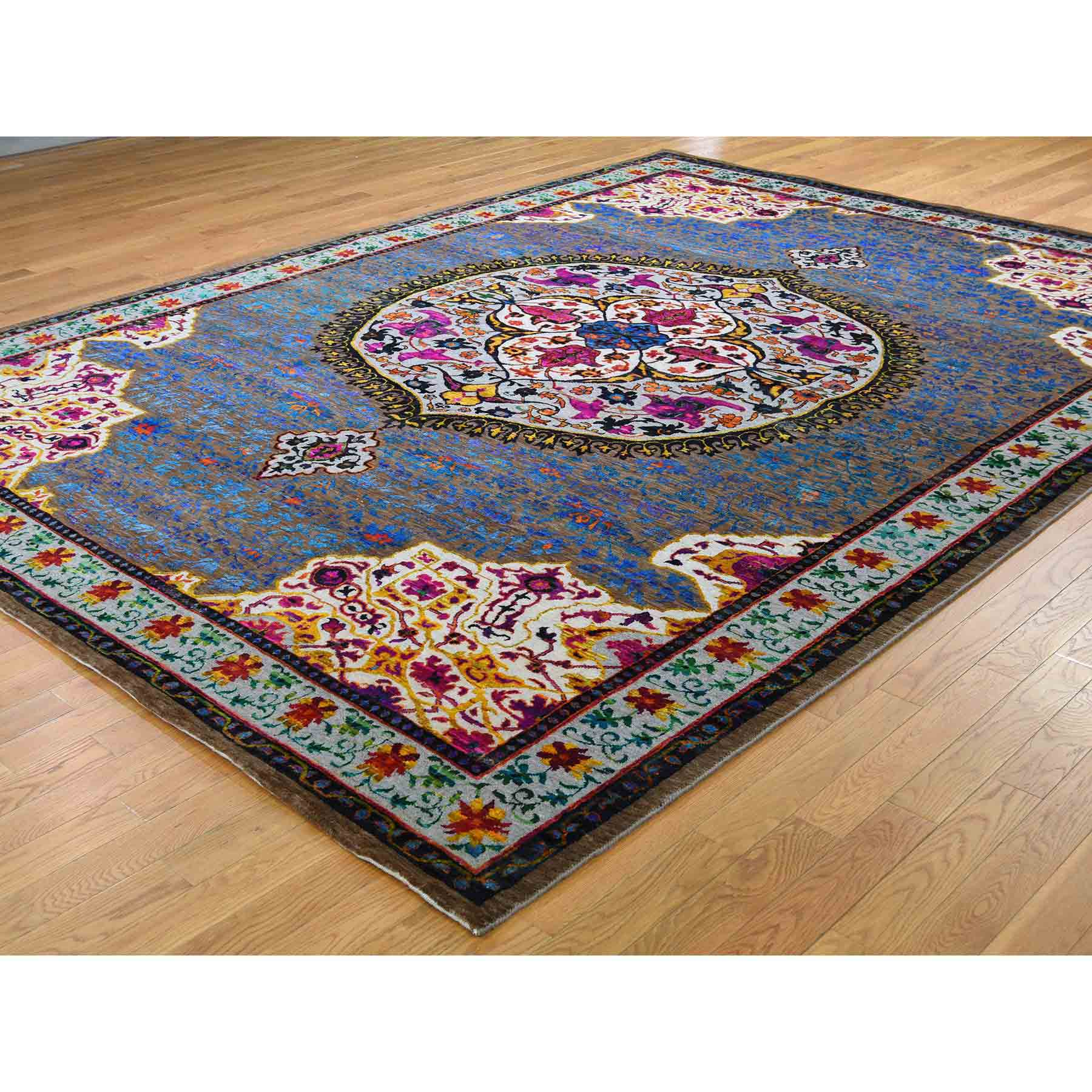 Oushak-And-Peshawar-Hand-Knotted-Rug-221070