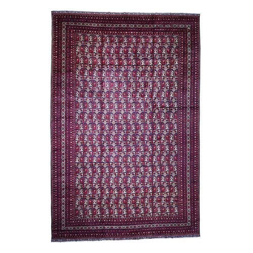 Oversize Pure Wool Afghan Khamyab Hand Knotted Oriental