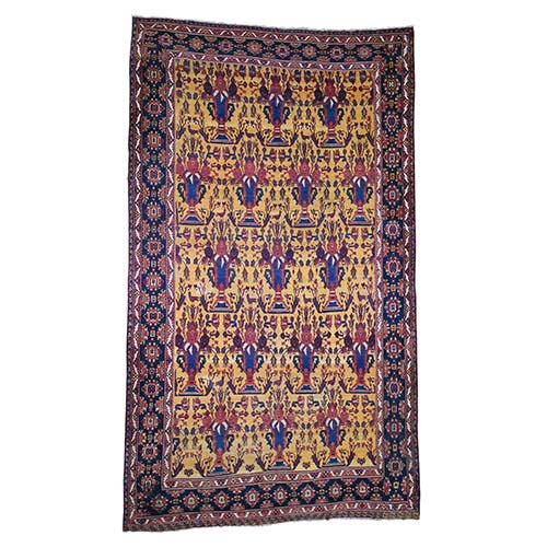 Antique Persian Gallery Size Bakhtiari Pure Wool Hand-Knotted Oriental
