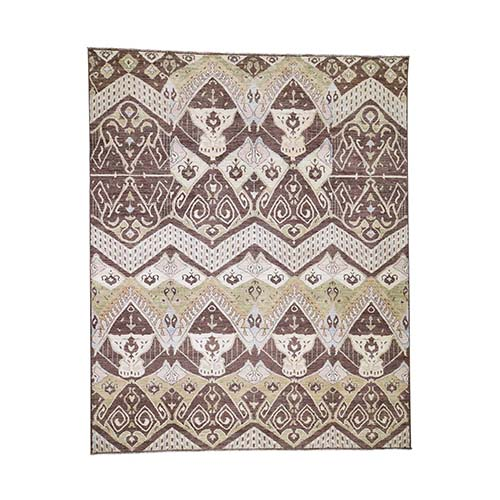 Ikat Tribal and Geometric Design Pure wool Hand Knotted Oriental
