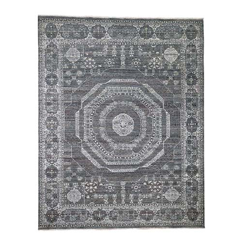 Natural Colors With Mamluk Design Pure Wool Hand-Knotted Oriental