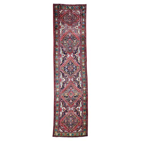 Vintage North East Persian Pure Wool Wide Runner Oriental