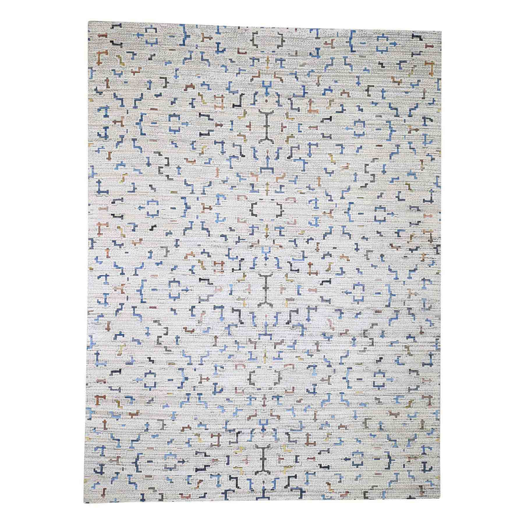 Wool-and-Silk-Hand-Knotted-Rug-225930