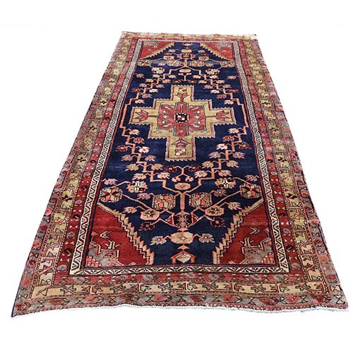 Vintage North West Persian Pure Wool Wide Runner Hand-Knotted Oriental