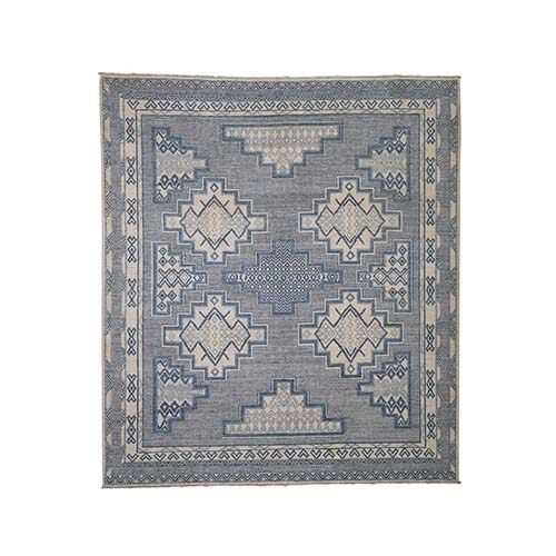 Hand-Knotted Pure Wool Peshawar with 