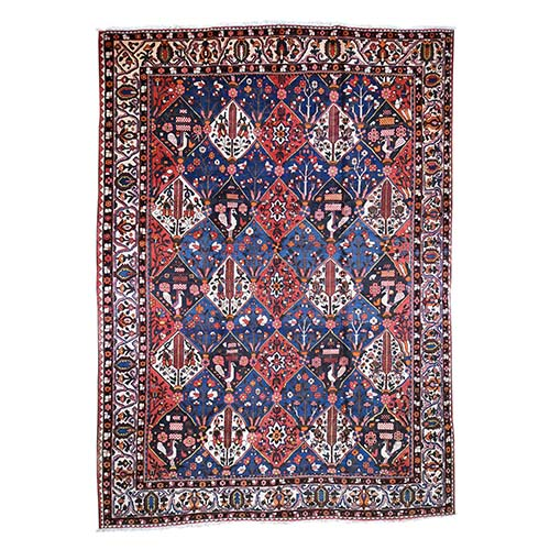 Oversized Vintage Persian Bakhtiari Good Condition Pure Wool Hand-Knotted Oriental Rug