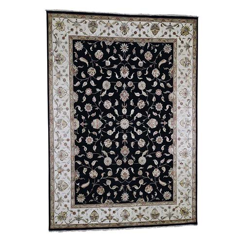 Rajasthan Half Wool And Half Silk Hand-Knotted Oriental Rug