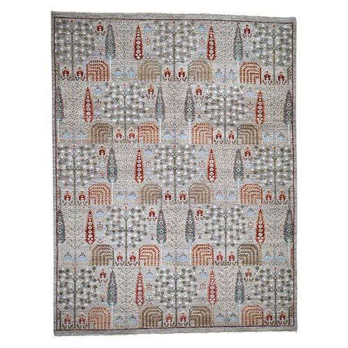 Peshawar Willow And Cypress Tree Design Hand-Knotted Oriental