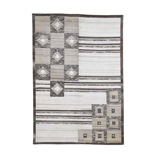 On Clearance Modern Nepali Undyed Natural Wool Hand Knotted Oriental