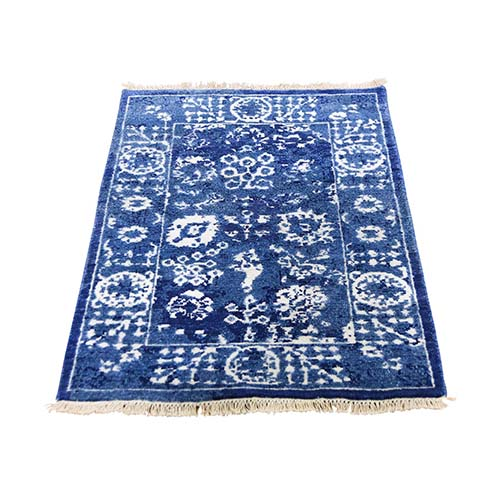 Hand-Knotted Wool and Silk Tone on Tone Tabriz Oriental Rug
