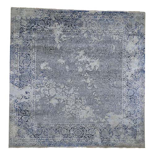 Square Broken Persian Design With Pure Silk Hand-Knotted Oriental Rug