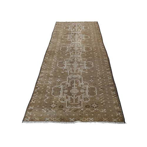 Washed Out Afghan Baluch With Natural Colors  Pure Wool Runner Hand-Knotted Oriental