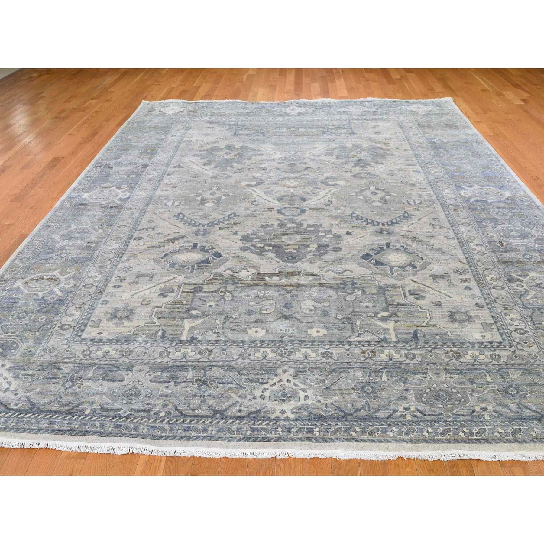 Oushak-And-Peshawar-Hand-Knotted-Rug-236745